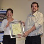 Entrega do Certificado ISO 9001 em Itapira
