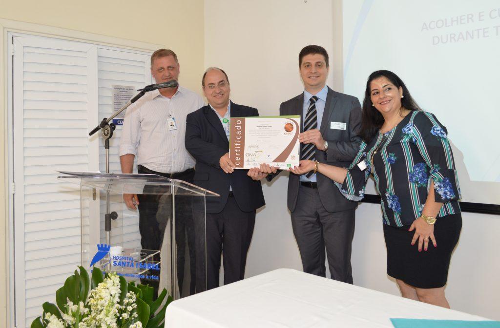 Fundação Vanzolini certifica Hospital Santa Isabel com a ONA